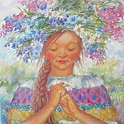 """Картины и панно ручной работы. Ярмарка Мастеров - ручная работа Картина маслом на холсте """"Желание"""", белый, розовый, лиловый. Handmade."""