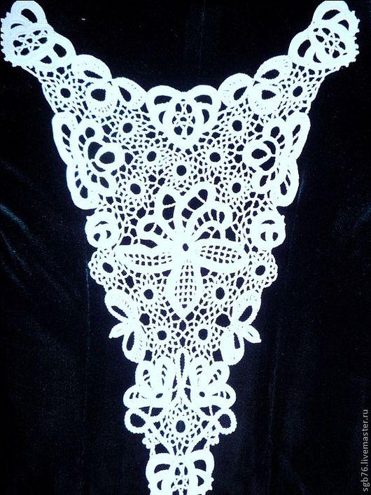 Платья ручной работы. Ярмарка Мастеров - ручная работа. Купить Вязаная спинка к платью. Handmade. Белый, ручное кружево