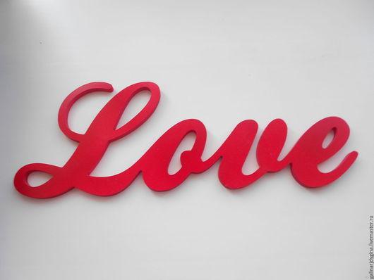 """Интерьерные слова ручной работы. Ярмарка Мастеров - ручная работа. Купить Буквы из пластика,""""LOVE"""",38х13,5х0,8см. Handmade."""