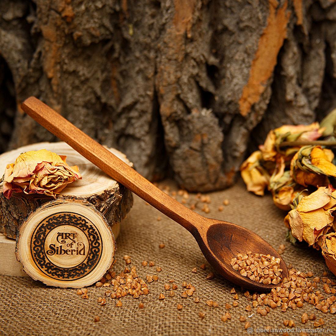 Ложка деревянная 21 cм Сибирский Кедр #L21, Ложки, Новокузнецк,  Фото №1