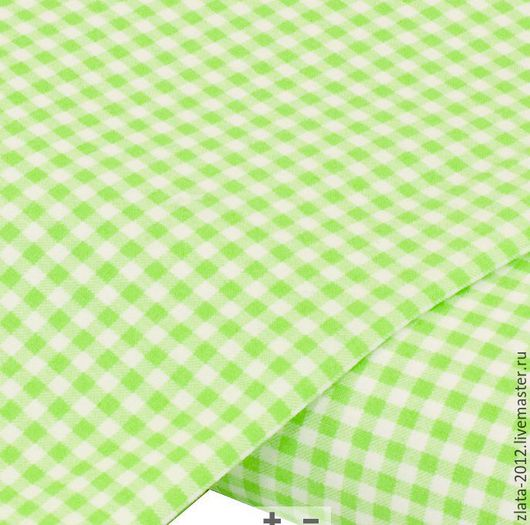 """Шитье ручной работы. Ярмарка Мастеров - ручная работа. Купить Немецкий хлопок""""Клетка зелень"""". Handmade. Хлопок, текстильная кукла, ткани"""
