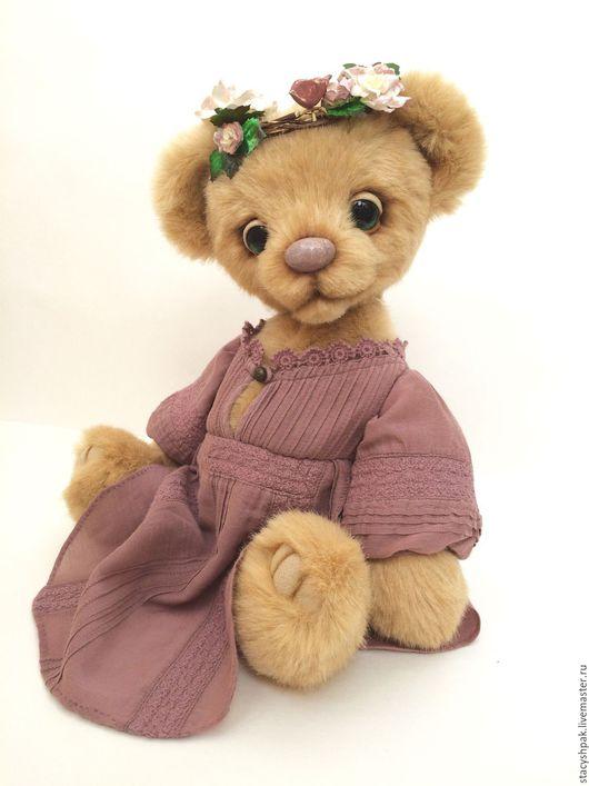 Мишки Тедди ручной работы. Ярмарка Мастеров - ручная работа. Купить Миа. Handmade. Бежевый, мишка в одежке