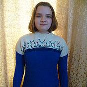 """Одежда ручной работы. Ярмарка Мастеров - ручная работа вязаный женский свитер """"Цветочки"""". Handmade."""