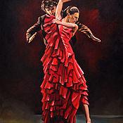 Картины и панно ручной работы. Ярмарка Мастеров - ручная работа Фламенко-3. Handmade.