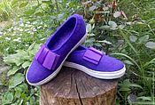 """Обувь ручной работы. Ярмарка Мастеров - ручная работа Туфли валяные """"Фиолет"""". Handmade."""