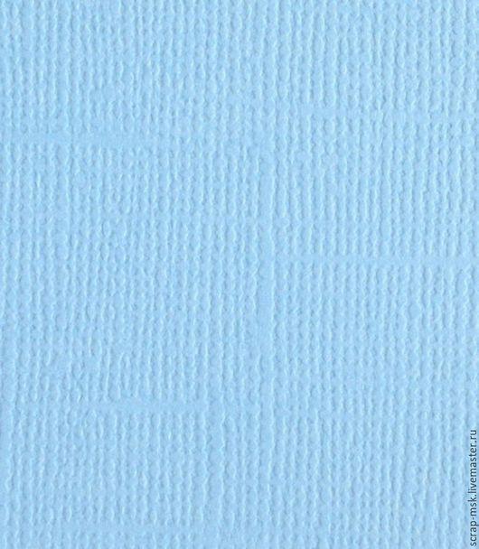 Открытки и скрапбукинг ручной работы. Ярмарка Мастеров - ручная работа. Купить Кардсток текстурированный Васильковый 12054. Handmade. Бумага для скрапа