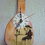 """Для дома и интерьера ручной работы. Ярмарка Мастеров - ручная работа часы """"Парижское кафе"""". Handmade."""
