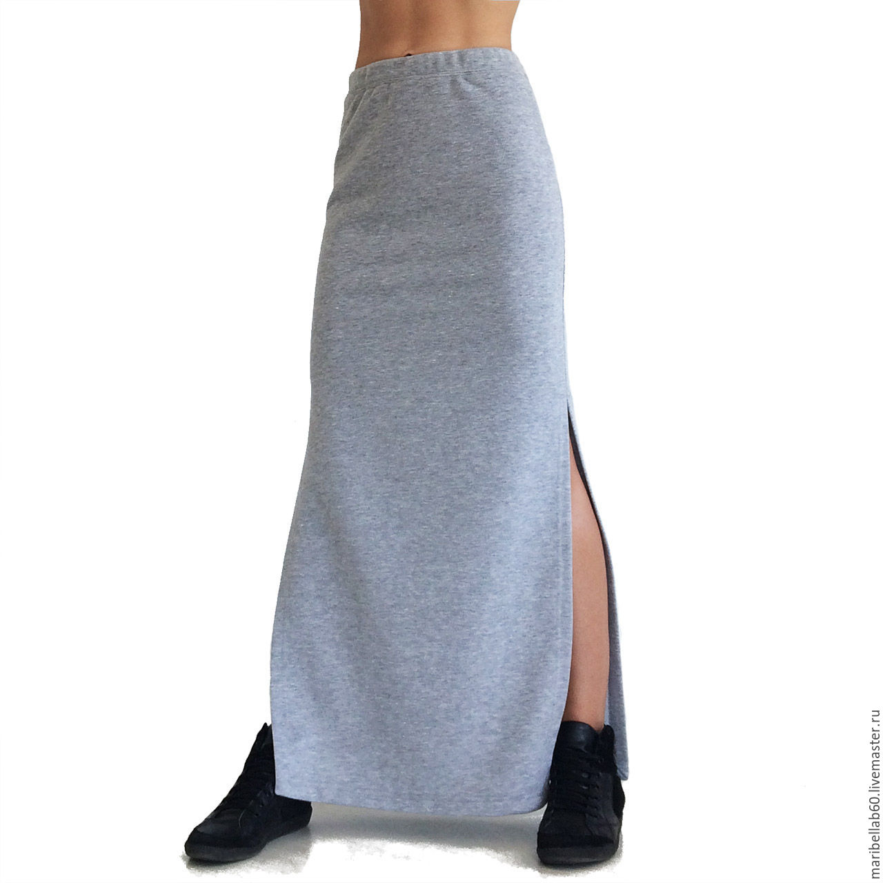 Фото прямой юбки с разрезами