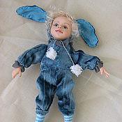 """Куклы и игрушки ручной работы. Ярмарка Мастеров - ручная работа кукла """"Голубой и прекрасный заяц"""". Handmade."""