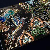 Посуда ручной работы. Ярмарка Мастеров - ручная работа Панно керамическое Райская птица. Handmade.