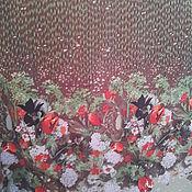 """Материалы для творчества ручной работы. Ярмарка Мастеров - ручная работа Шелк вискозный """" Весенняя поляна """" 2,45 м .. Handmade."""