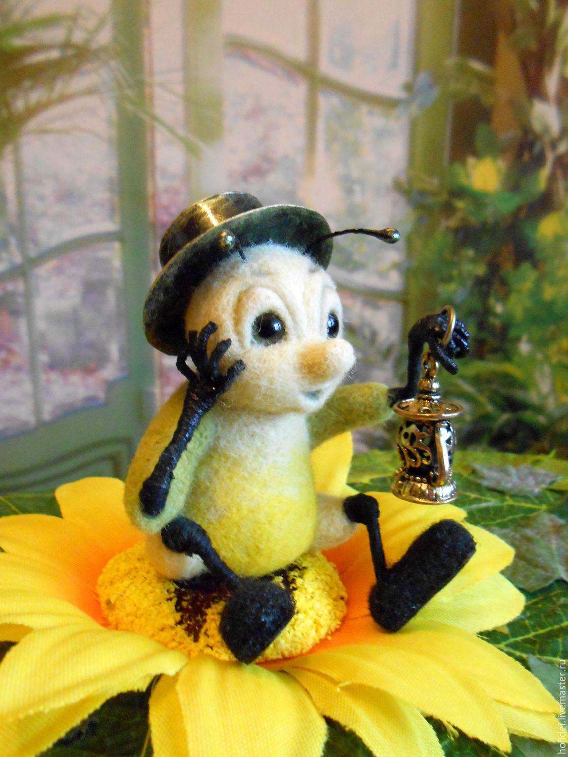 Bug FIREFLY felted sculpture, Felted Toy, Zelenograd,  Фото №1
