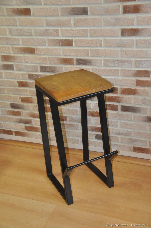 Барный стул. Loft. Дуб, металл   Splendidwood