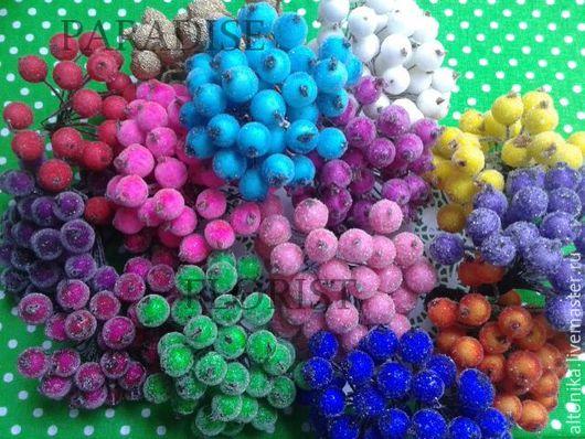 Материалы для флористики ручной работы. Ярмарка Мастеров - ручная работа. Купить Ягода в сахаре ( 11 цветов). Handmade. Зеленый