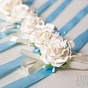 Свадебный салон handmade. Livemaster - original item Bracelets for bridesmaids blue. Handmade.