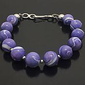 Украшения handmade. Livemaster - original item bracelet purple charm. Handmade.