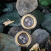 handmade. Livemaster - original item Octavian Augustus... Stylish coin Clips from the 1970s. Handmade.