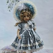 Куклы и игрушки handmade. Livemaster - original item Clothes for Little Darling (Dianna Effner) dolls.Blue outfit.. Handmade.