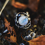 """Украшения ручной работы. Ярмарка Мастеров - ручная работа Серебряное кольцо с лунным камнем """"Полнолуние"""". Handmade."""