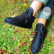 """Обувь ручной работы. Ярмарка Мастеров - ручная работа Стильные кожаные ботиночки """"Classic Black"""". Handmade."""