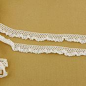 Материалы для творчества ручной работы. Ярмарка Мастеров - ручная работа К-467 Кружево хлопковое, белое, ширина 1,5см. Handmade.