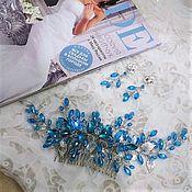 Свадебный салон handmade. Livemaster - original item Turquoise set. Hair comb and earrings.. Handmade.