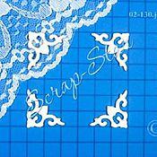 Материалы для творчества handmade. Livemaster - original item chipboard corners 02-130. Handmade.