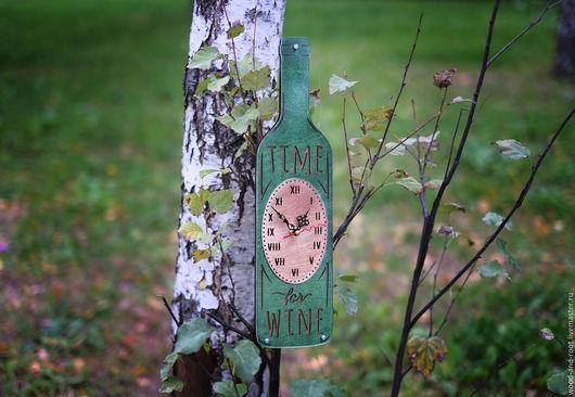 Часы для дома ручной работы. Ярмарка Мастеров - ручная работа. Купить Часы настенные It's Wine Time. Handmade. Часы