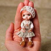 Куклы и игрушки handmade. Livemaster - original item Author`s miniature doll 9cm additional clothing. Handmade.