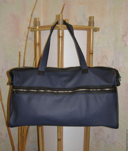 Мужские сумки ручной работы. Ярмарка Мастеров - ручная работа. Купить Мужская сумка.. Handmade. Тёмно-синий, Кожаная сумка