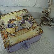 """Для дома и интерьера ручной работы. Ярмарка Мастеров - ручная работа Короб для хранения """" Сказки лета"""". Handmade."""