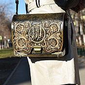 Сумки и аксессуары handmade. Livemaster - original item Bag leather, embossed using plecho28h20. Handmade.