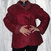 """Одежда ручной работы. Ярмарка Мастеров - ручная работа Куртка валяная """"Вишенка"""". Handmade."""
