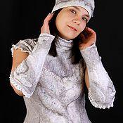 Одежда ручной работы. Ярмарка Мастеров - ручная работа Блуза Зимнее утро. Handmade.