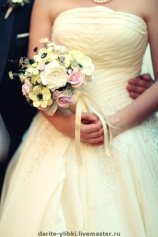 Свадебные цветы ручной работы. Ярмарка Мастеров - ручная работа. Купить Букеты невесты из полимерной глины. Handmade. Свадебный букет