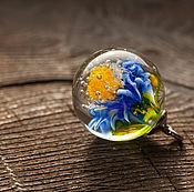 """Подвеска ручной работы. Ярмарка Мастеров - ручная работа Кулон шар """"Синева"""". Handmade."""