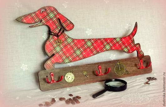 Прихожая ручной работы. Ярмарка Мастеров - ручная работа. Купить Ключница Лондонская Королевская Такса. Handmade. Ключница, ключница деревянная