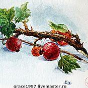 """Картины и панно ручной работы. Ярмарка Мастеров - ручная работа """"Ветка крыжовника"""",  """"Gooseberry"""". Handmade."""
