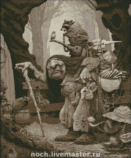 """Вышивка ручной работы. Ярмарка Мастеров - ручная работа. Купить Схема для вышивки """"Страшная сказка или возвращение мыши"""". Handmade."""