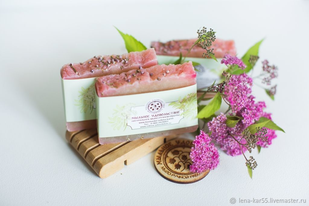 Soap from scratch natural Heather honey honey with honey pink, Soap, Novye Burasy,  Фото №1