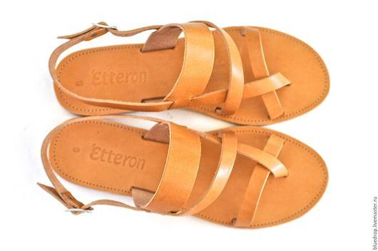 """Обувь ручной работы. Ярмарка Мастеров - ручная работа. Купить Кожаные сандалии """"классические"""". Handmade. Сандалии, мужские сандалии"""