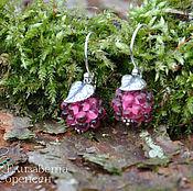 Украшения handmade. Livemaster - original item Silver earrings berries Cyclamen. Handmade.