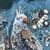 Сумки и аксессуары handmade. Livemaster - original item Velvet handbag with hand embroidery Parrot.. Handmade.