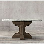 Для дома и интерьера ручной работы. Ярмарка Мастеров - ручная работа Дизайнерский круглый обеденный стол из массива №4. Handmade.
