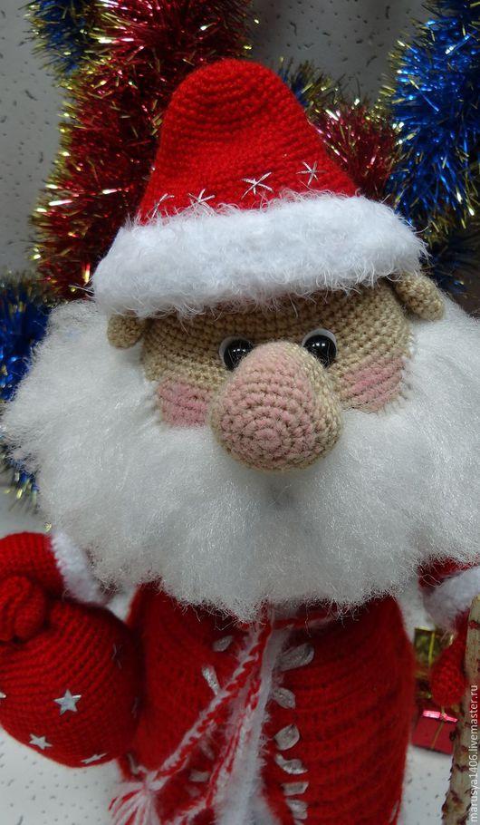 Сказочные персонажи ручной работы. Ярмарка Мастеров - ручная работа. Купить Дедушка Мороз. Handmade. Ярко-красный, подарок