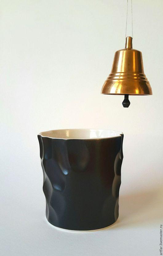 """Бокалы, стаканы ручной работы. Ярмарка Мастеров - ручная работа. Купить Стакан """"Полдень в Бухаресте"""". Handmade. Черный, лаконичный"""