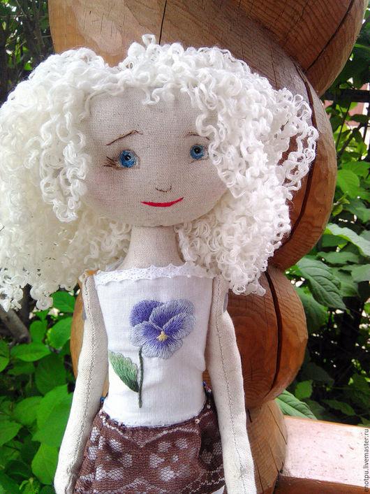 Коллекционные куклы ручной работы. Ярмарка Мастеров - ручная работа. Купить Текстильная куколка Даша. Handmade. Бежевый, авторская кукла