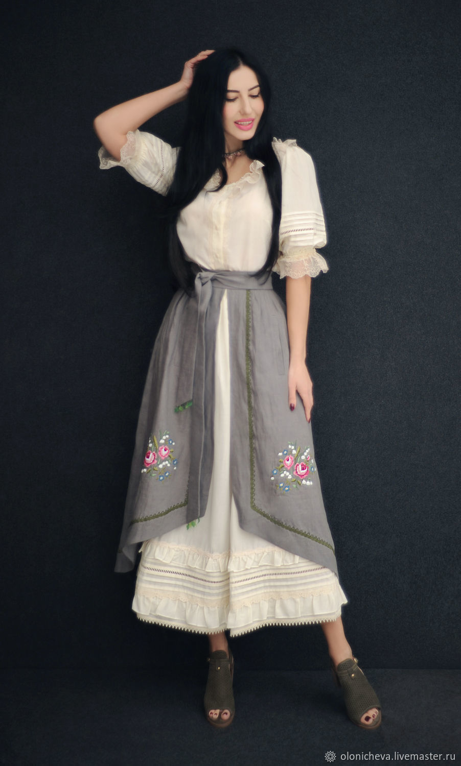 6c1c36e56d5 Costumes handmade. Livemaster - handmade. Buy Suit with embroidery  Roses  and lilies of ...