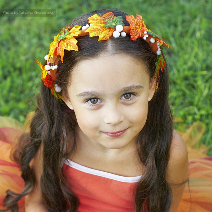 Осенние венки на голову фото