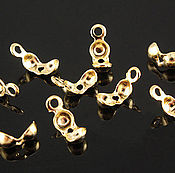 Материалы для творчества handmade. Livemaster - original item 10 PCs. Kaloti gold plated South Korea (art. 2083). Handmade.